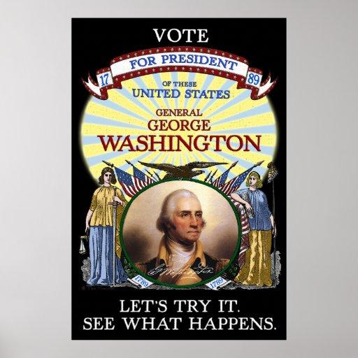 Poster 1789 de la elección de George Washington (o