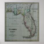 Poster 1823 del mapa de la Florida