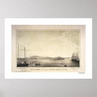Poster 1837 de la primavera de Yerba Buena (ahora