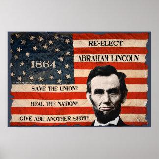 Poster 1864 de la pared de la campaña electoral de póster