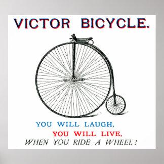 Poster 1880 de la bicicleta del vencedor