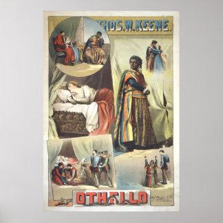 Poster 1884 de la original de Othello