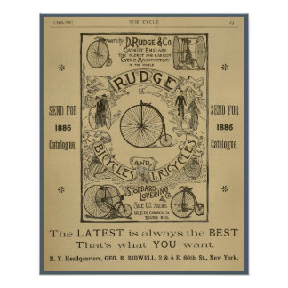 Poster 1886 del arte del anuncio de la revista de