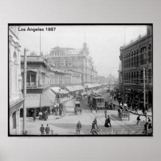 Poster 1887 de Los Ángeles