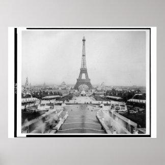 Poster 1889 de la torre Eiffel