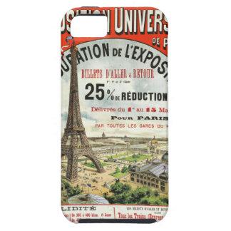 Poster 1889 del vintage de la torre Eiffel de la iPhone 5 Carcasa