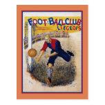 Poster 1894 del anuncio del fútbol del fútbol del  postal