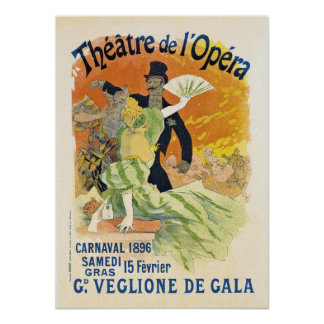 Poster 1896 de Carnaval Póster