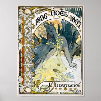 Poster 1897 de 1896 NOEL Alfonso Maria Mucha
