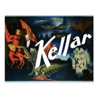 Poster 1897 del mago de Harry Kellar del vintage Postales