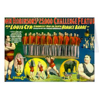Poster 1898 del vintage de la demostración del tarjeta de felicitación