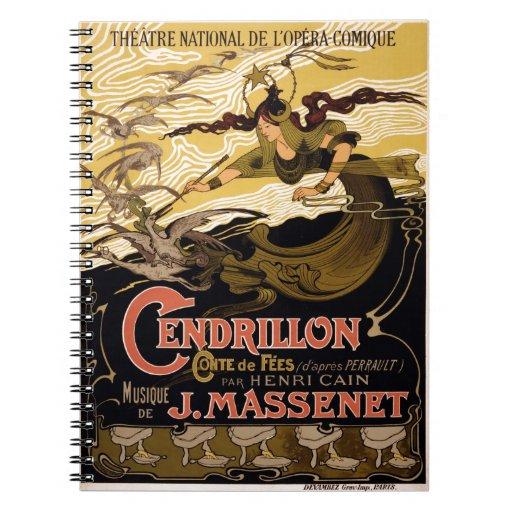 Poster 1899 de la ópera para Cendrillon de Jules M Libros De Apuntes