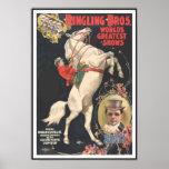 POSTER 1899 del CIRCO de Ringling Bros