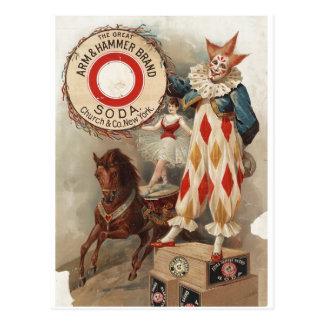 Poster 1900 del anuncio de la soda de la marca del tarjetas postales