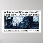 Poster 1901 del objeto expuesto del arte de Veneci