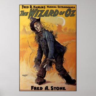 Poster 1903 de la demostración de mago de Oz Broad