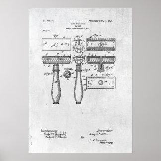 Poster 1904 de la impresión de la patente de la