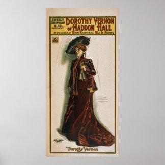 Poster 1906 de Dorothy Vernon~Haddon Hall~Theatric