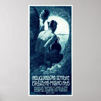 Poster 1906 de la exposición de Milano