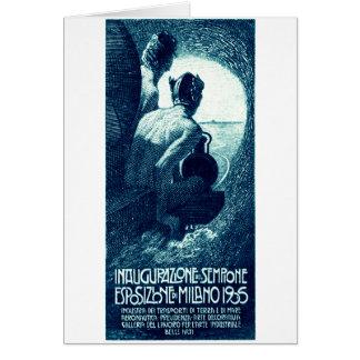 Poster 1906 de la exposición de Milano Tarjetas