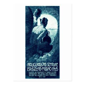 Poster 1906 de la exposición de Milano Postal