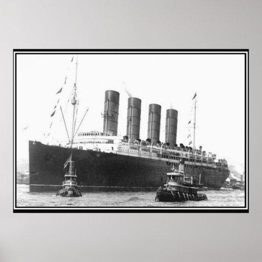 Poster 1906 de la foto del vintage del Lusitania Póster