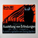 Poster 1907 de la exposición de Berlín