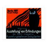 Poster 1907 de la exposición de Berlín Postal
