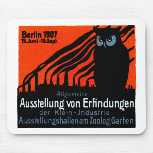 Poster 1907 de la exposición de Berlín Alfombrilla De Raton