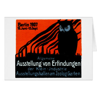 Poster 1907 de la exposición de Berlín Tarjeta De Felicitación