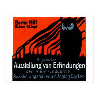 Poster 1907 de la exposición de Berlín Tarjetas Postales