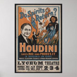 Poster 1909 de Houdini