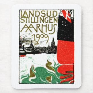 Poster 1909 de la exposición de Aarhus Dinamarca Tapetes De Raton