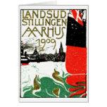Poster 1909 de la exposición de Aarhus Dinamarca Tarjeta