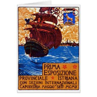 Poster 1910 de la expo de Istrian Tarjeta De Felicitación