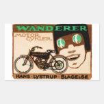Poster 1910 de la motocicleta del vagabundo pegatina