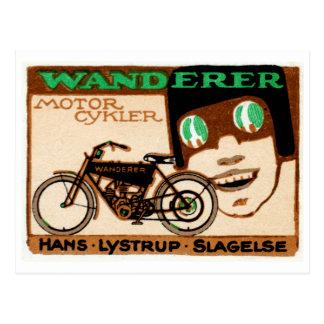 Poster 1910 de la motocicleta del vagabundo tarjetas postales