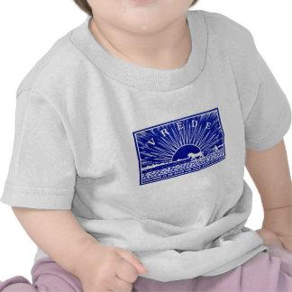 Poster 1910 de la paz del azul camiseta