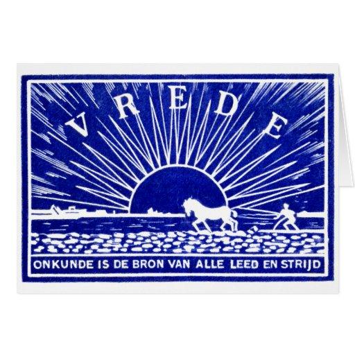 Poster 1910 de la paz del azul tarjetón
