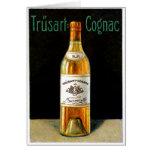 Poster 1910 del coñac de Trusart Felicitaciones