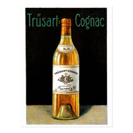 Poster 1910 del coñac de Trusart Tarjetas Postales