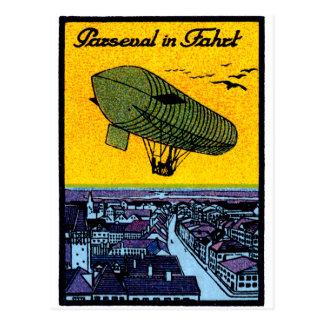 Poster 1910 del dirigible de Parseval Postales