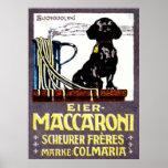 Poster 1910 del macarrón