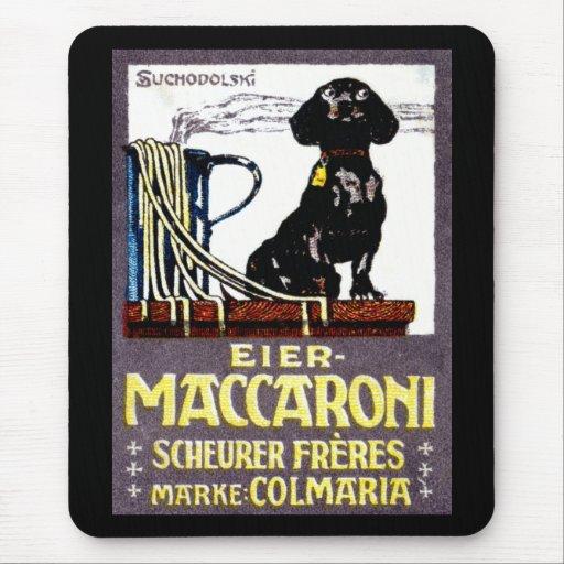 Poster 1910 del macarrón alfombrillas de ratón