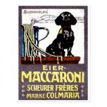 Poster 1910 del macarrón postal
