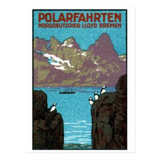 Poster 1910 del revestimiento marino tarjeta postal