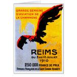 Poster 1910 del salón aeronáutico de Reims Felicitación