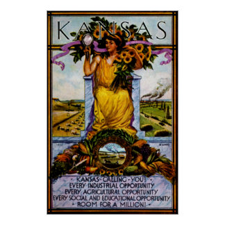 Poster 1911 de Kansas Póster