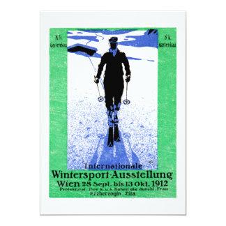 """Poster 1912 de los deportes de invierno de Viena Invitación 5"""" X 7"""""""