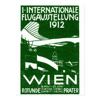 Poster 1912 del salón aeronáutico de Viena Tarjeta Postal
